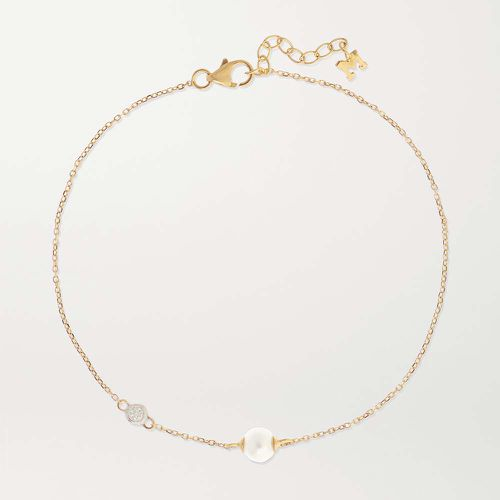14-karat Gold, Pearl and Diamond Bracelet ($625)