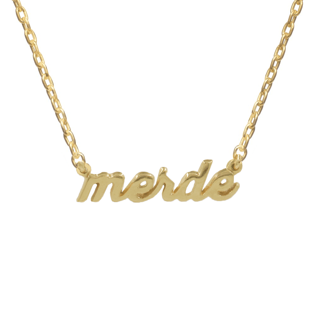 Accessories Bing Bang NYC Merde Necklace