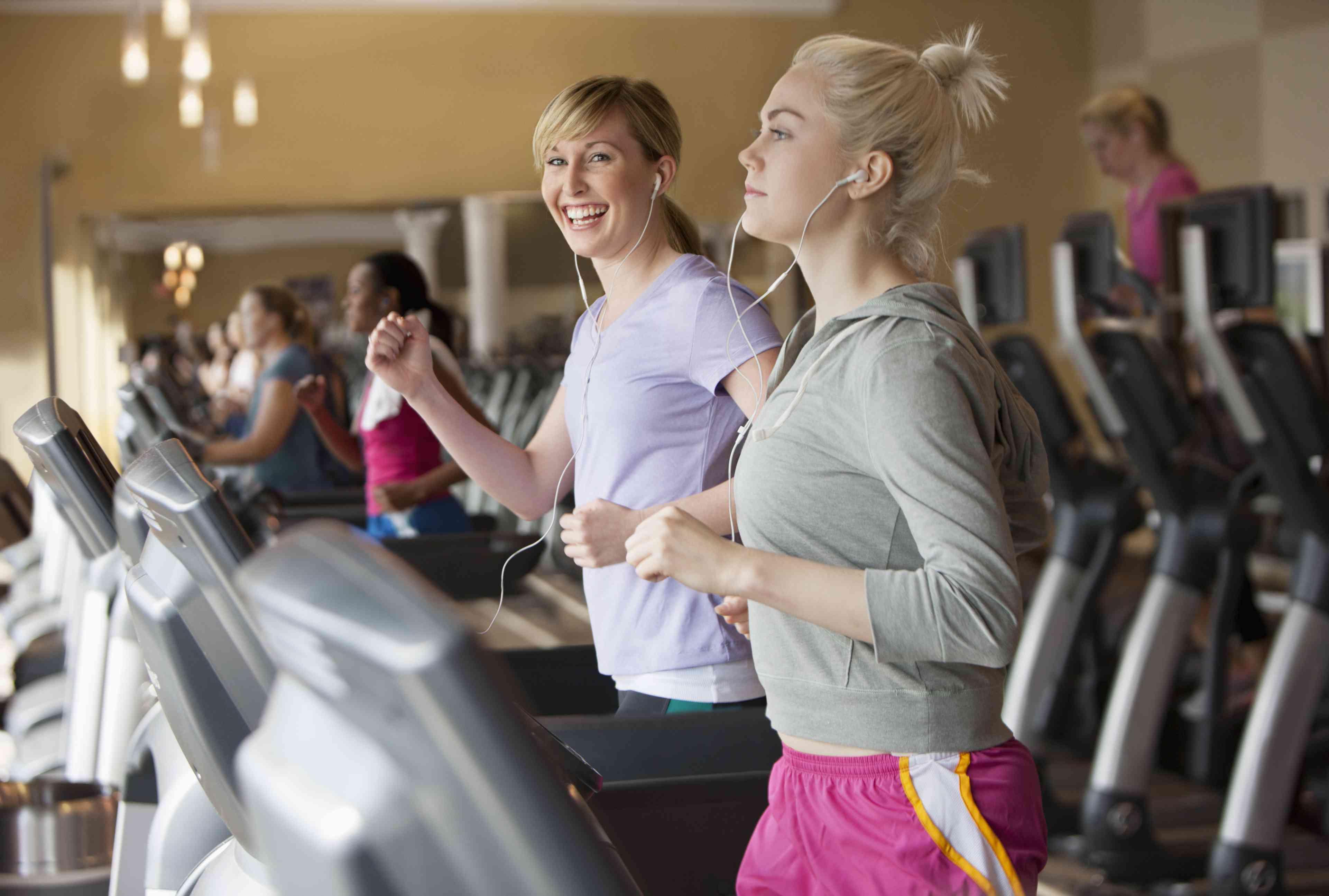 Speed walking on treadmills
