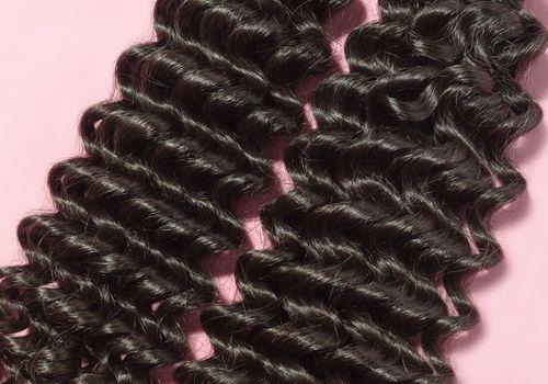 deep curly black hair weave