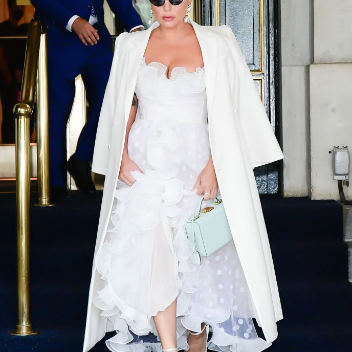 Lady Gaga Outfits White Dress
