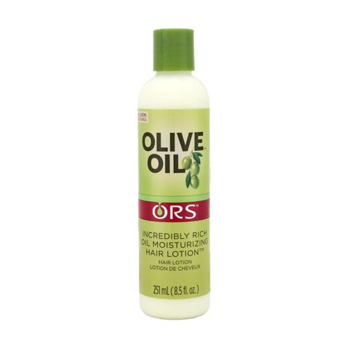 blonde kinky curly hair tips: ORS Olive Oil Lotion
