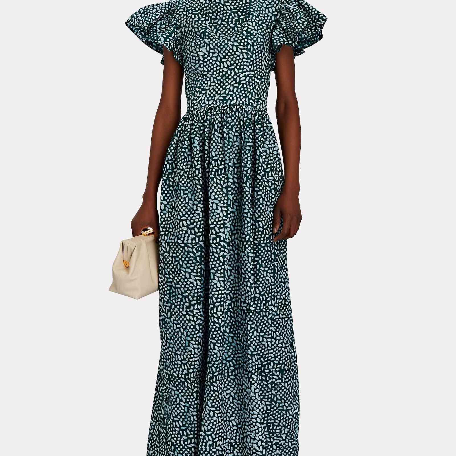 Sika Luna Flutter Printed Cotton Maxi Dress