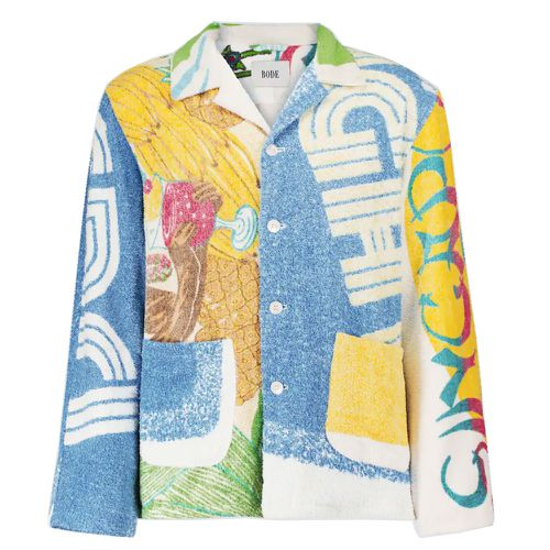 Bode Duo Towel Patchwork Printed Jacket