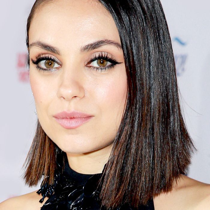 short haircuts for round faces: Mila Kunis
