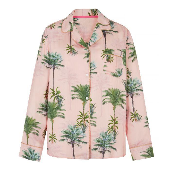 Next Palm Print Pyjama Top