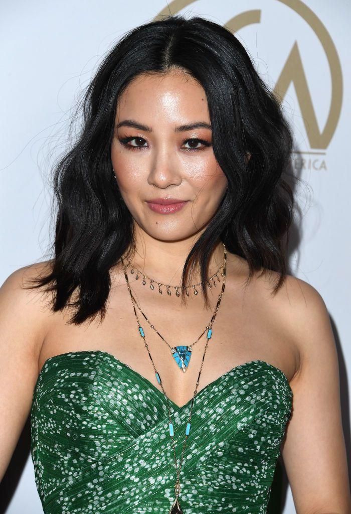 Constance Wu slightly wavy mid-length hair