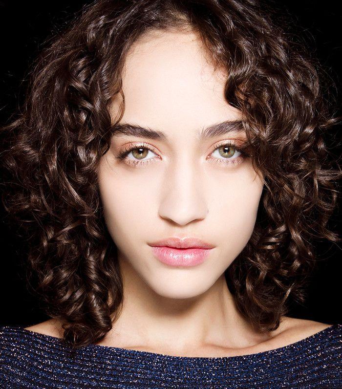Model with rose gold eyelids