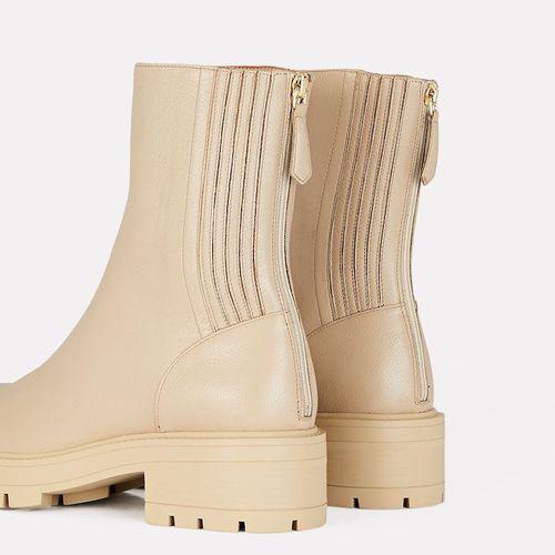 Aquazzura St. Honoré Leather Combat Boots