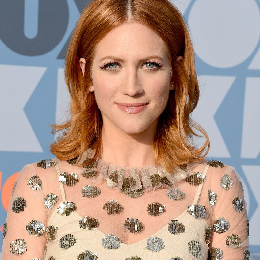 Brittany Snow shoulder-length flipped out hair