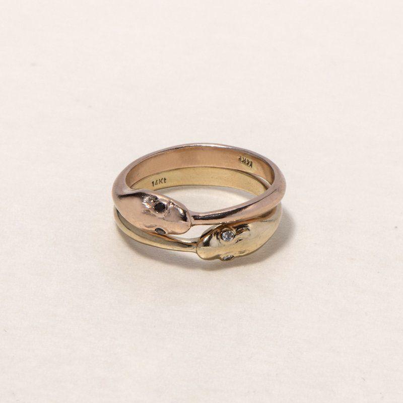 Ruby Star Studio Gold Snake Ring