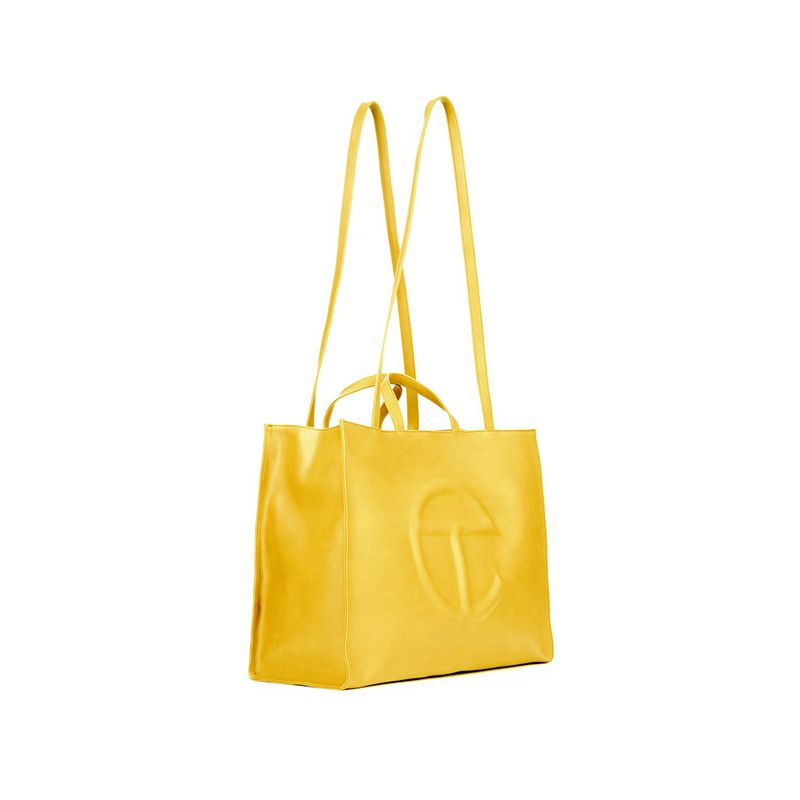 Large Yellow Shopping Bag