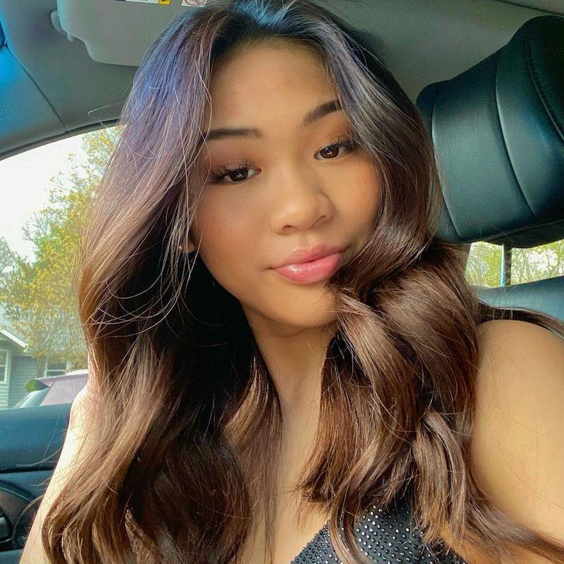 Brown Hair Color Suni Lee
