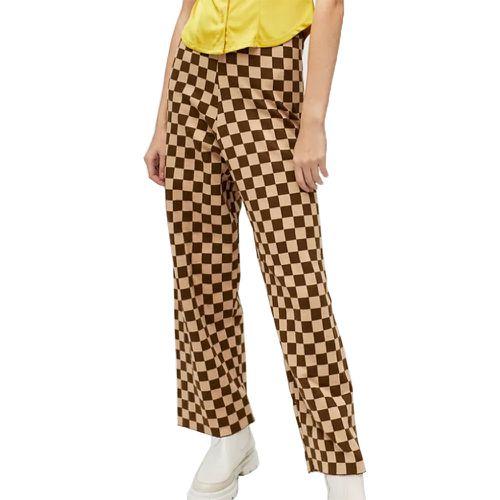 Daisy Street Checkered Knit Wide Leg Pant