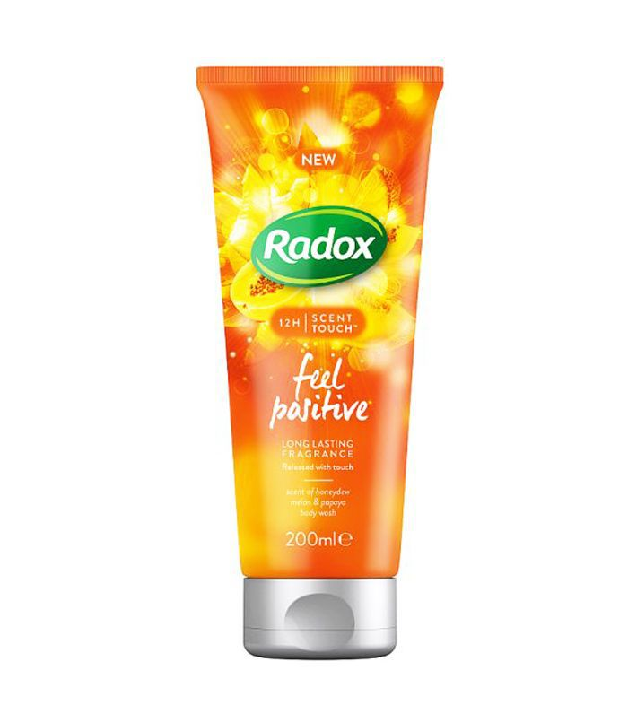 Best Mood Boosting Beauty Products: Radox Scent Touch Feel Positive Shower Gel