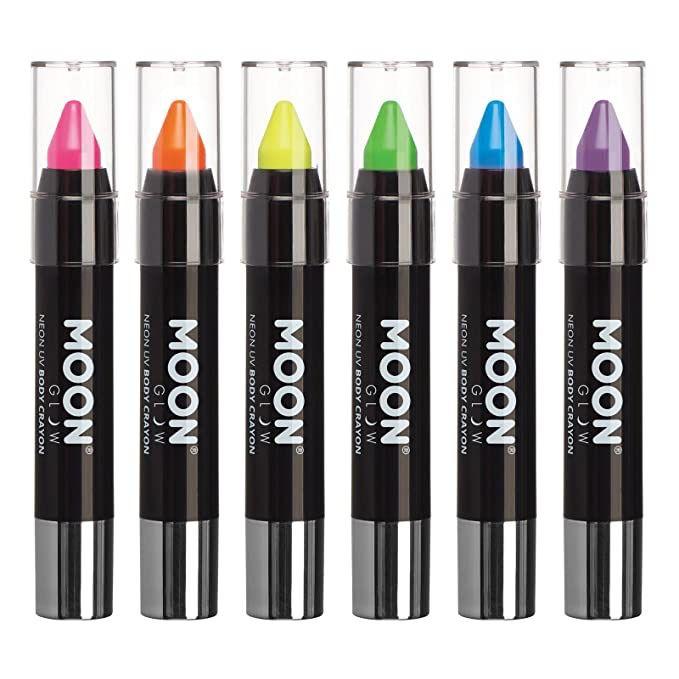 Blacklight Glow UV Face Paint Stick Body Crayon Pack