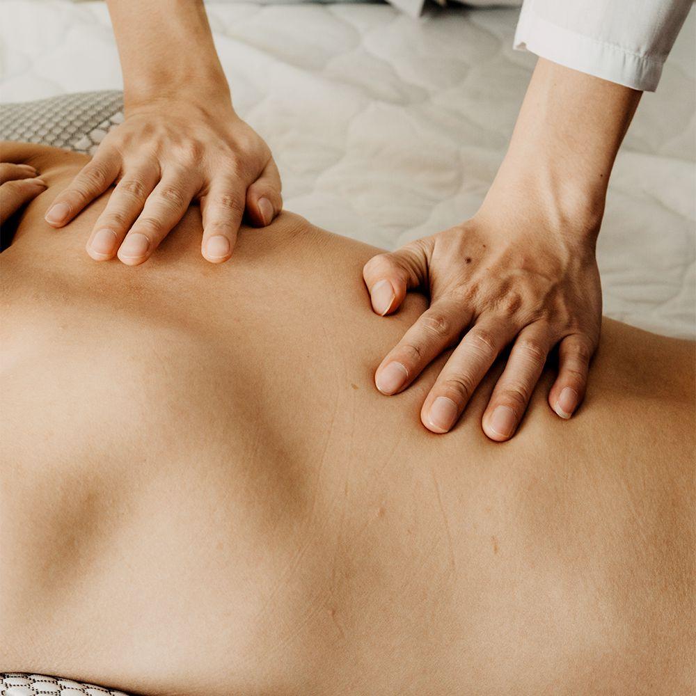 closeup of massage