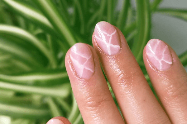 neutral jade nails manicure