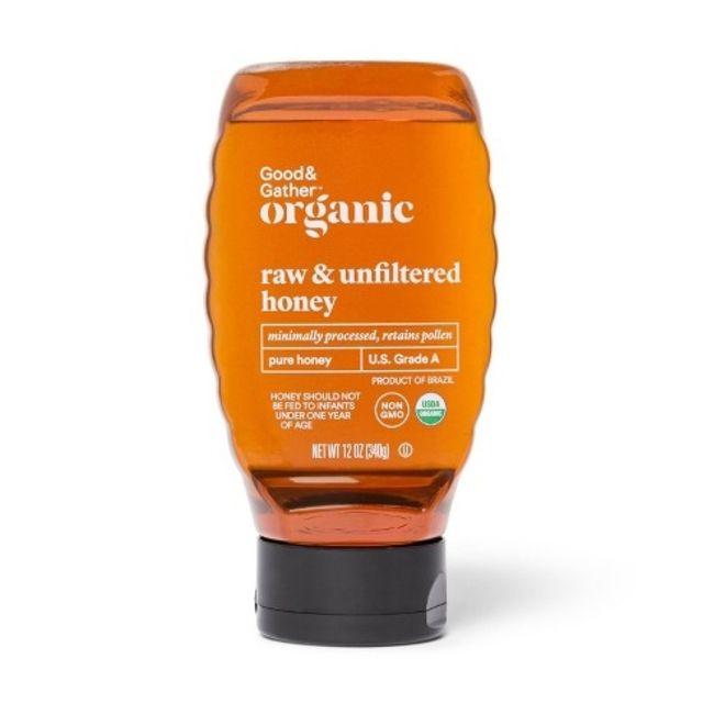 Good & Gather Organic Raw Unfiltered Honey