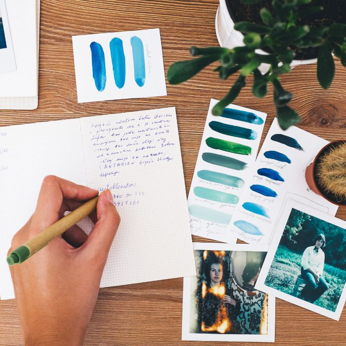 Journaling: Woman writing in a journal