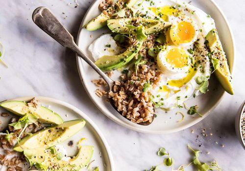 Healthy, low-carb, vegetarian meal