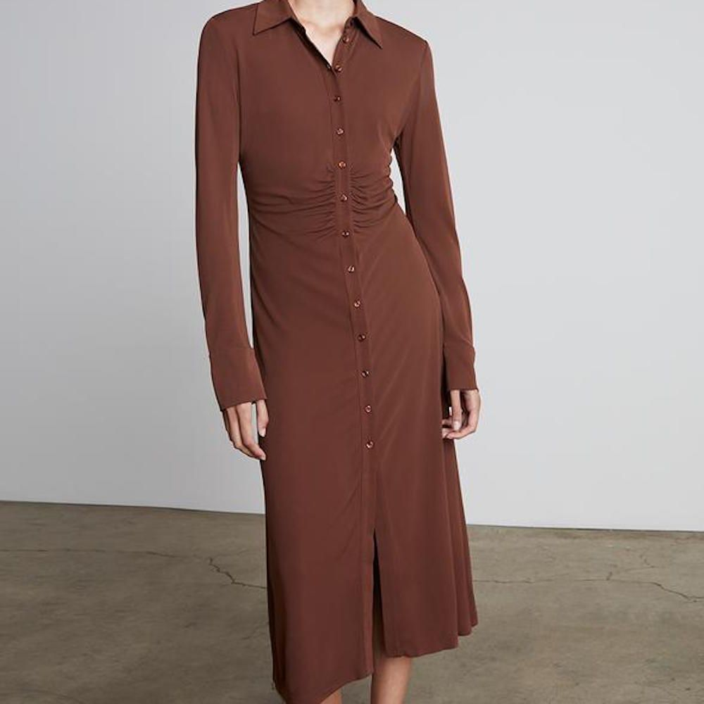 Who What Wear Aly Gathered Collared Dress
