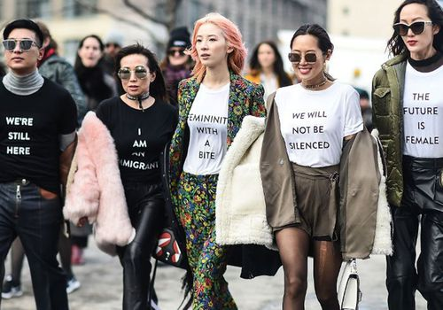 women with empowering tshirts