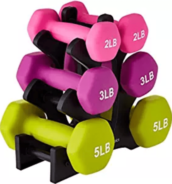 body weight set point: York Fitness Multi-Colour 15kg Dumbell Weight Set and Stand