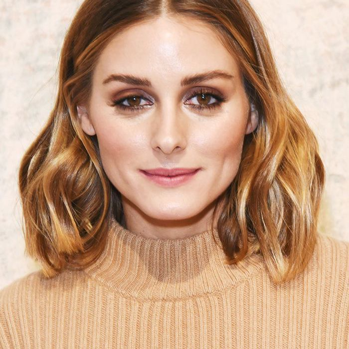 Olivia Palermo with center-parted long bob