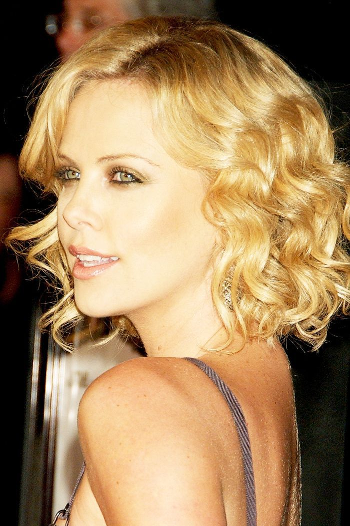 Charlize Theron Blonde Curls