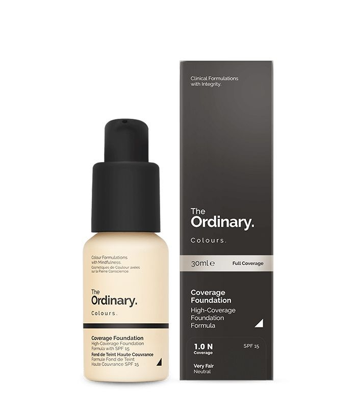 Best drugstore foundation for combination skin: The Ordinary Coverage Foundation