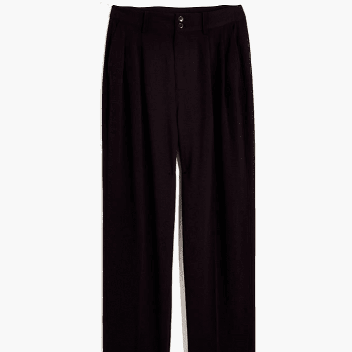Madewell Drapey Pleated Taper Wide-Leg Pants