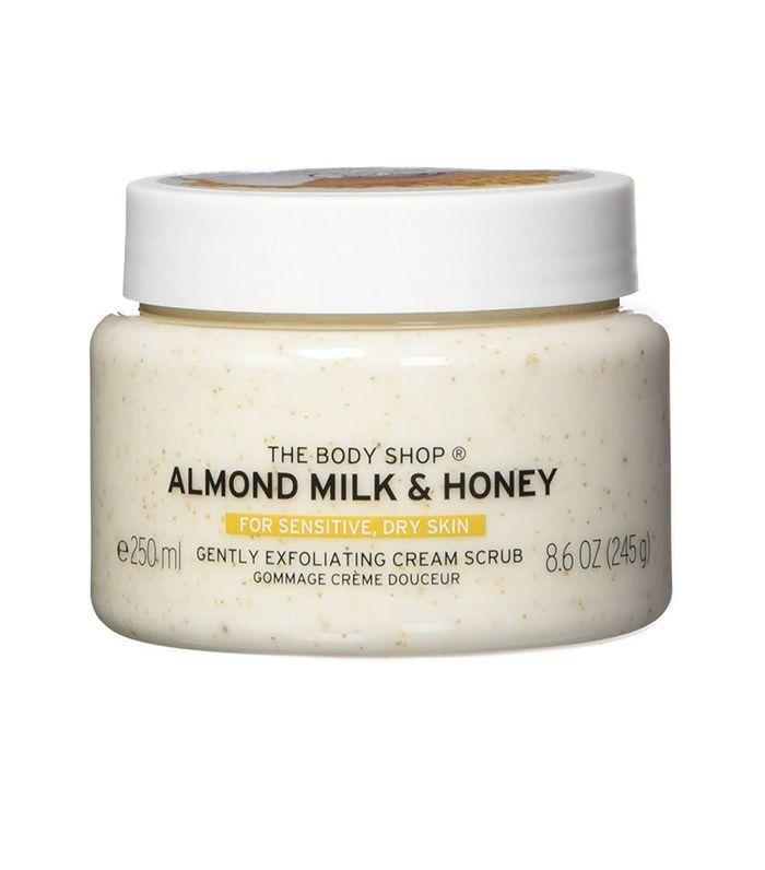 The Body Shop Almond Milk & Honey Body Scrub Exfoliator