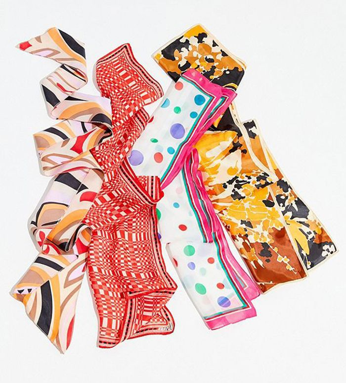 Urban Outfitters Vintage Silky Printed Scarf