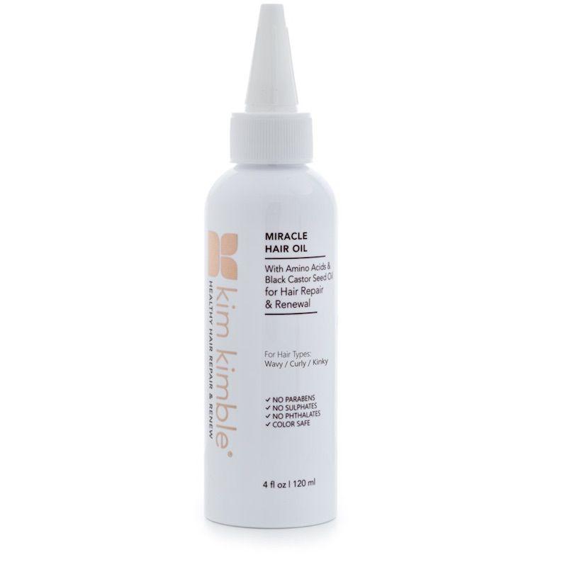 White bottle of hair oil