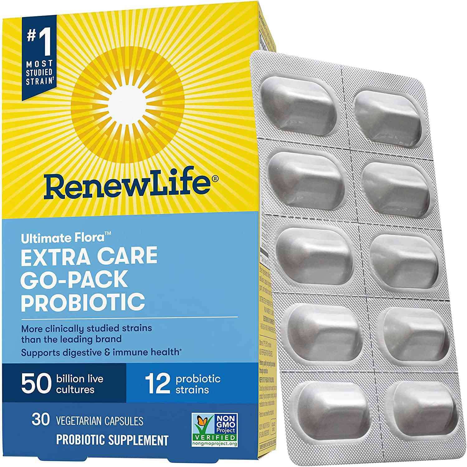 Renew Life Ultimate Flora Probiotic Extra Care Go-Pack