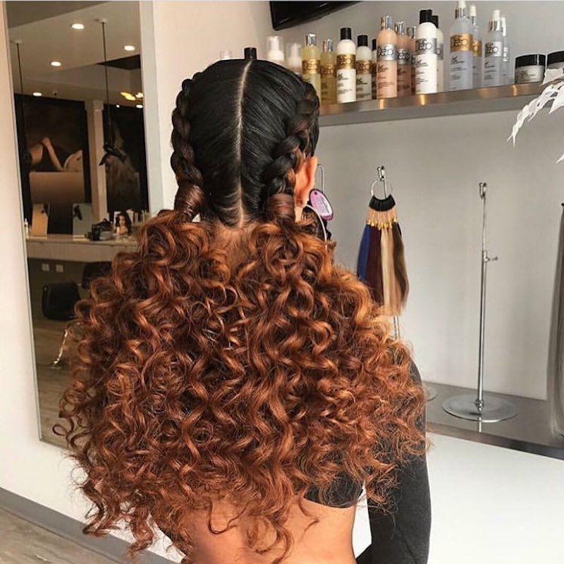 Goddess Braids Curly Pigtails