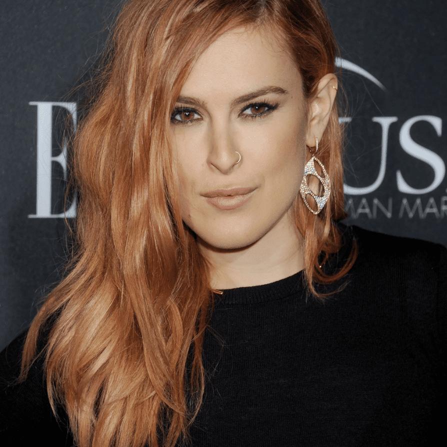 Rumer Willis Rose Gold Hair