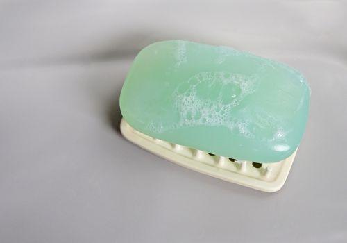 sudsy green soap bar