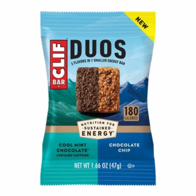 CLIF BAR Duos Cool Mint Chocolate + Chocolate Chip