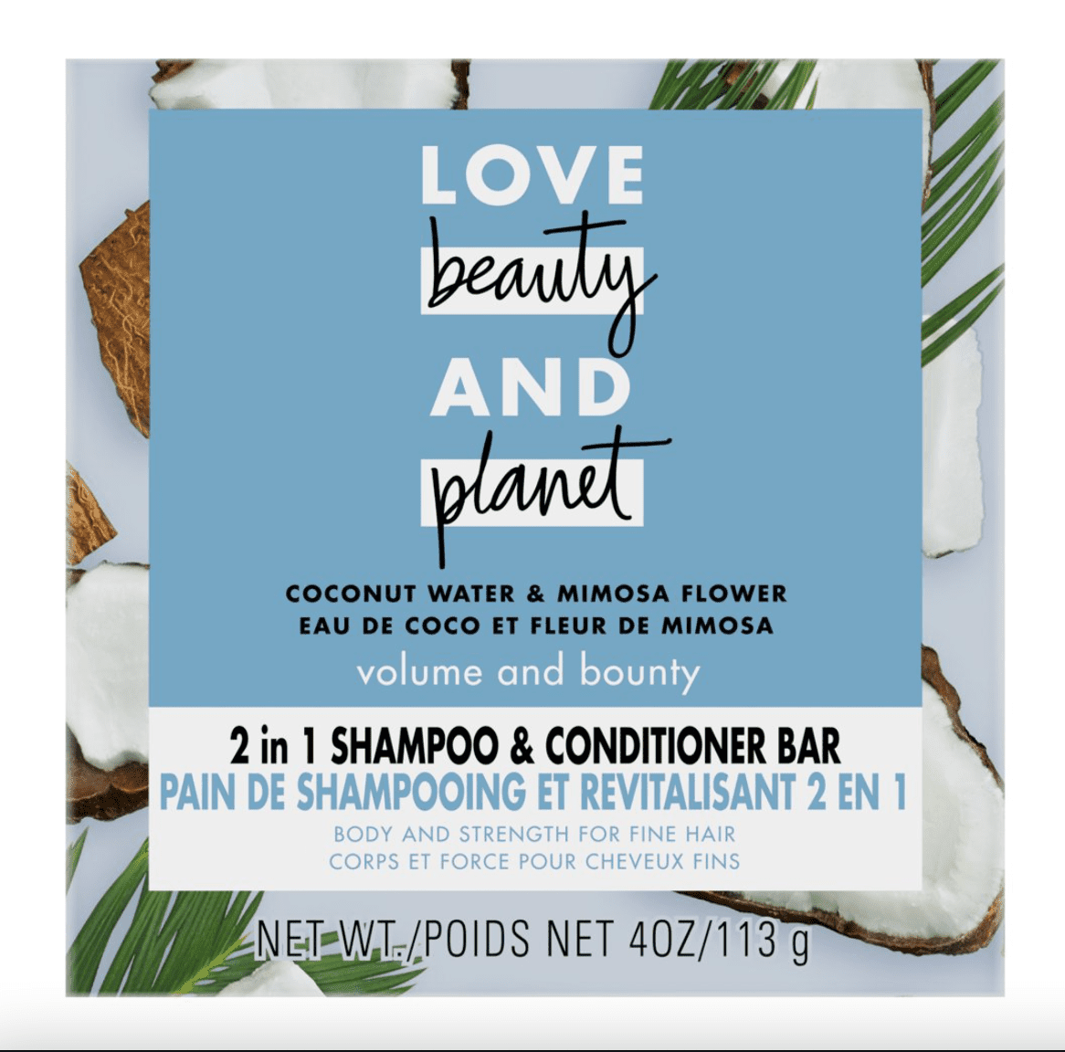 2 in 1 Coconut Water & Mimosa Flower Shampoo and Conditioner Bar