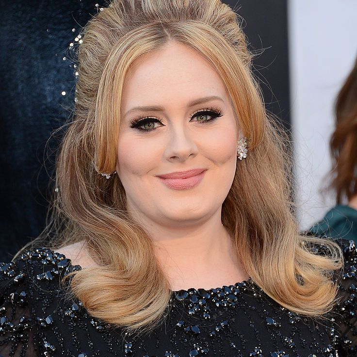 Adele with a raised bouffant