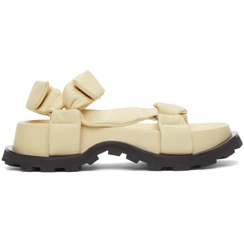 Jil Sander Off-White Leather Chunky Sandals