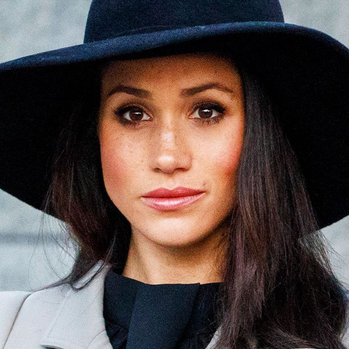 Meghan Markle wearing coat and hat
