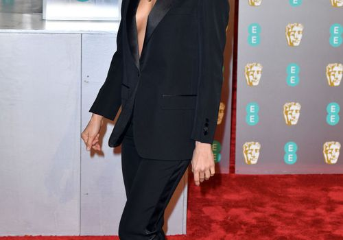 Irina Shayk on a red carpet