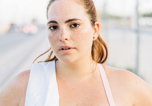 sweaty femme after run