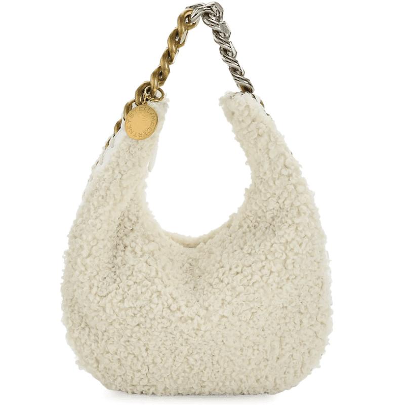 Stella McCartney Eco Shearling Frayme Shoulder Bag