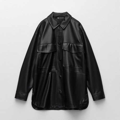 Zara Faux Leather Overshirt