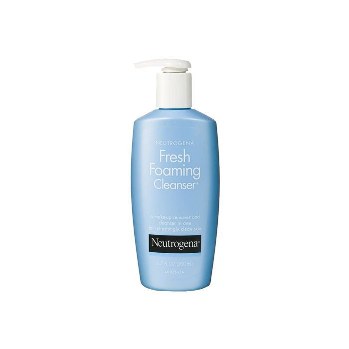 Neutrogena Fresh Foaming Cleanser - how to take care of eyelash extensions