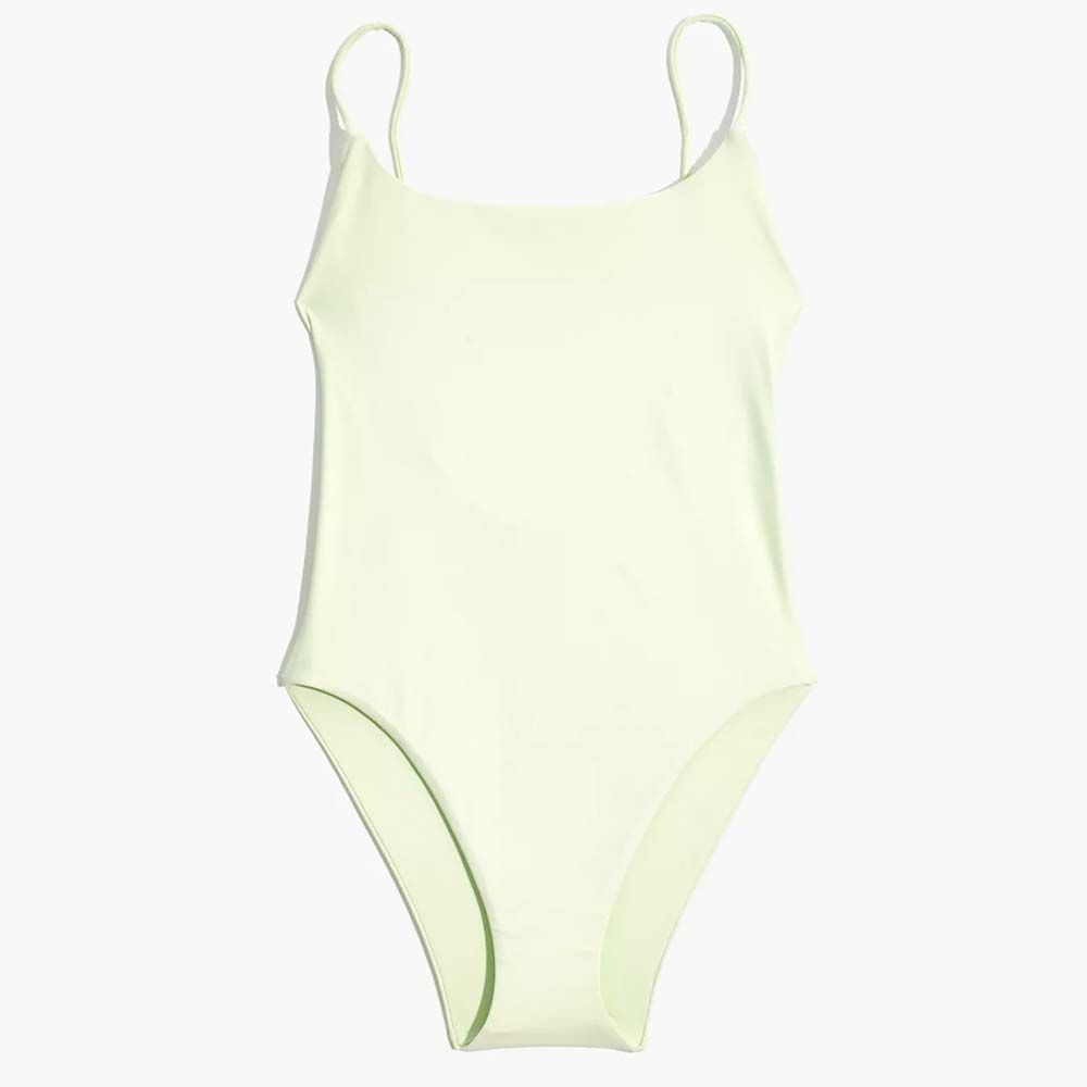 Second Wave Spaghetti-Strap One-Piece Swimsuit
